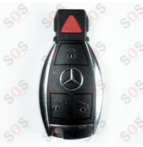 Оригинален ключ за Mercedes - рибка хром